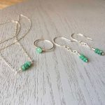 emerald memorial jewellery set with necklace ring and earrings