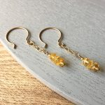 Pair of citrine earrings for condolence gift